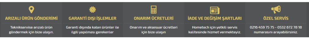 hometech özel servisi