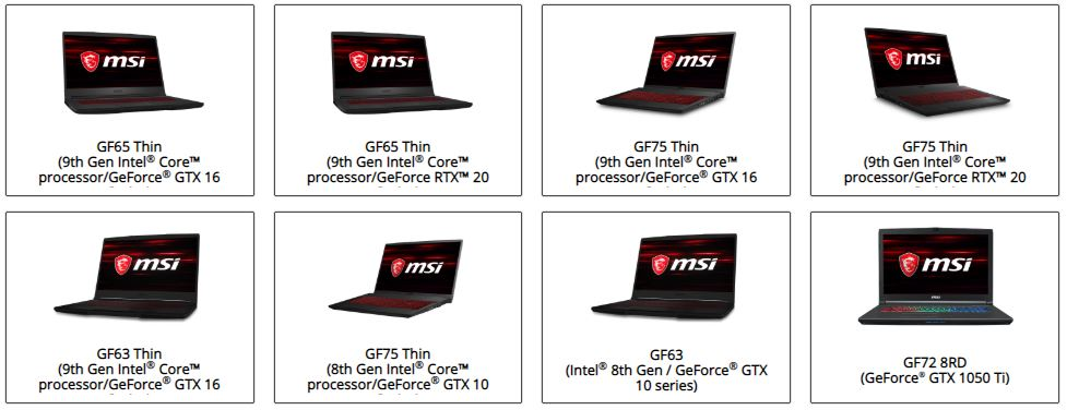 GF65 Thin,GF65 Thin,GF75 Thin,GF75 Thin,GF63 Thin,GF75 Thin,GF63,GF72 8RD,GF62 8RD özel servisi