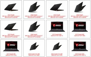 GS75 Stealth, GS65 Stealth, GS75 Stealth, GS65 Stealth, GS75 Stealth, GS65 Stealth, GS73 Stealth 8RD, GS73 Stealth 8RE, GS73 Stealth 8RF, GS65 Stealth Thin 8RE, GS65 Stealth Thin 8RF, GS63 Stealth 8RD, GS63 Stealth 8RE bilgisayar servisi