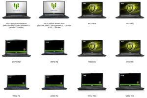 WE65 Mobile Workstation, WE75 Mobile Workstation, WE73 8SK, WE73 8SJ, WE72 7RJX, WE72 7RJ, WE63 8SJ, WE63 8SI, WE62 7RJ, WE62 7RI, WE62 7RJX, WE62 7RIX laptop oyuncu bilgisayar arıza tespit ve onarım servisi