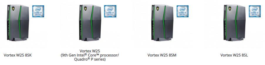 Vortex W25 8SK, Vortex W25, Vortex W25 8SM bilgisayar